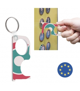 Porte clé de protection avec personnalisation totale - NO TOUCH CREATIVE - Fabrication EUROPE