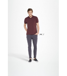 Polo homme à pois SOL'S - 180g/m² - BRANDY MEN