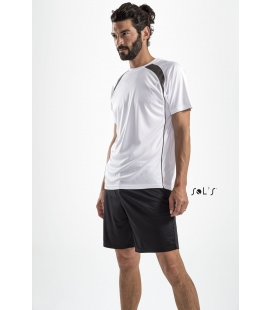 Tee-shirt bicolore homme SOL'S - 140g/m² - MATCH