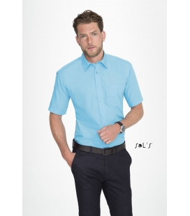 Chemise homme popeline manches courtes SOL'S - BRISTOL