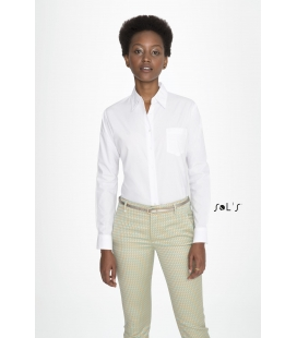 Chemise femme popeline manches longues SOL'S - EXECUTIVE