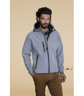 Softshell homme à capuche SOL'S - 340g/m² - REPLAY MEN