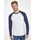 Tee-shirt homme bicolore manches longues raglan SOL'S FUNKY LSL