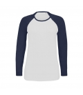 Tee-shirt femme bicolore manches longues raglan SOL'S MILKY LSL